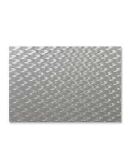 Silver Oblong Cake Card 17x13